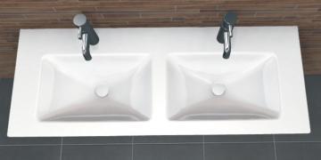 PCON Doppel-Waschtisch I | Villeroy & Boch Venticello | 130 cm