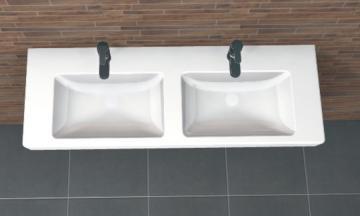 PCON Doppel-Waschtisch D | Villeroy & Boch Subway 2.0 | 130 cm