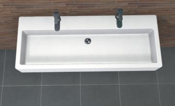 PCON Waschtisch J | Duravit Vero | 120 cm | 2 Hahnlöcher