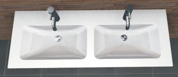 PCON Doppel-Waschtisch K | Duravit ME by Starck | 130 cm