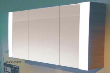 PCON Spiegelschrank | Acrylblenden | 134 cm