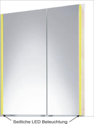PCON Spiegelschrank | LED-Beleuchtung | 77 cm