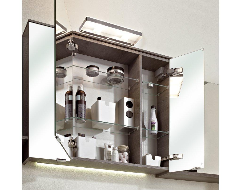 Pelipal pcon spiegelschrank wei 80 cm for Spiegelschrank 80 cm hoch