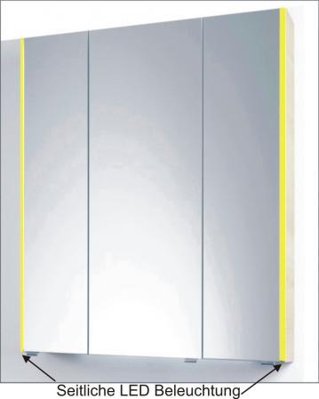 PCON Spiegelschrank | LED-Beleuchtung | 82 cm