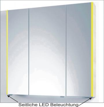 PCON Spiegelschrank | LED-Beleuchtung | 92 cm