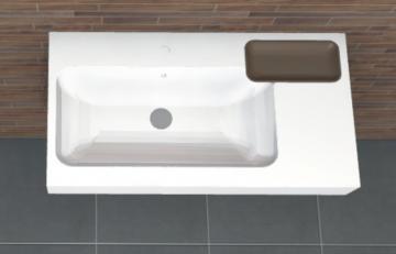 PCON Waschtisch B | Keramag iCon asymmetrisch Ablage rechts | 90 cm