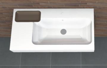 PCON Waschtisch C | Keramag iCon asymmetrisch Ablage links | 90 cm