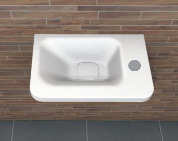 PCON Waschtisch E | Ideal Standard Tonic II | 46 cm mit Ablage rechts