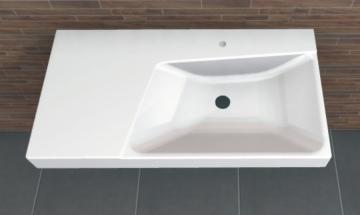 PCON Waschtisch F | Keramag Xeno² asymmetrisch Ablage links | 90 cm