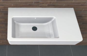 PCON Waschtisch X | Geberit Renova Nr. 1 Comprimo | 65 cm Ablage rechts