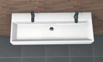 PCON Waschtisch H | Villeroy & Boch Memento | 100 cm | 2 Hahnlöcher | Clou-Ablauf