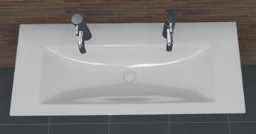PCON Waschtisch M | Villeroy & Boch Venticello | 120 cm | 2 Hahnlöcher