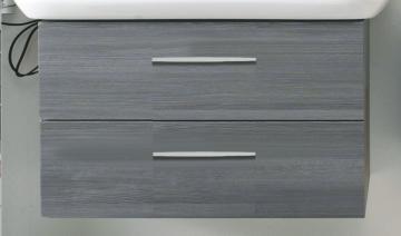 PCON WT-Unterschrank E2 | 2 Auszüge | 90 cm [Geberit Xeno² asymmetrisch Ablage rechts]