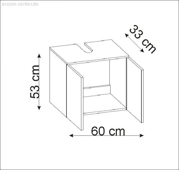 Pelipal Alika Waschtisch Unterschrank Universal 60 cm | Arbersee