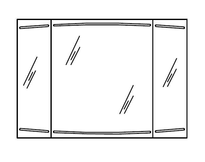 spiegelschank led pelipal cassca 100 cm arcom center. Black Bedroom Furniture Sets. Home Design Ideas