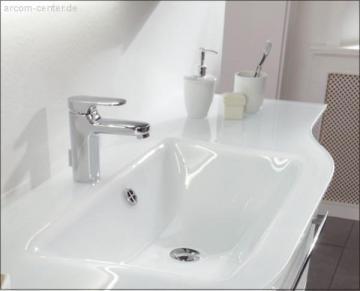 Pelipal Contea Badmöbel Glaswaschtisch links