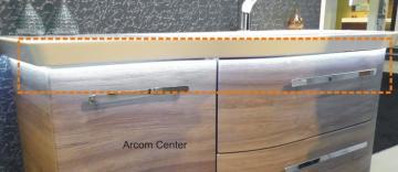 Pelipal Contea Badmöbel LED-Zusatzbeleuchtung für Waschtischunterschrank 163,6 cm