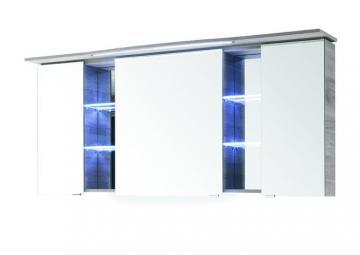 Pelipal Contea Badmöbel Spiegelschrank A mit LED-Beleuchtung im Kranz 158 cm