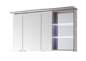 Pelipal Contea Badmöbel Spiegelschrank A mit LED-Beleuchtung im Kranz 119 cm Links