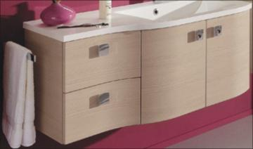 Pelipal Contea Waschtischunterschrank 2 Drehtüren rechts + 2 Auszüge links