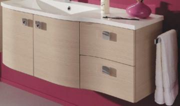 Pelipal Contea Waschtischunterschrank 2 Drehtüren links + 2 Auszüge rechts