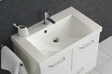 Pelipal Filo Weiß 75 cm Waschtisch | Mineralmarmor