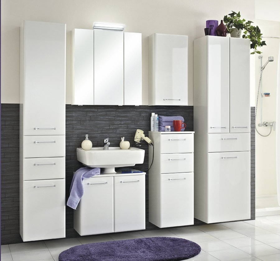 pelipal filo badschrank w schekippe wei arcom center. Black Bedroom Furniture Sets. Home Design Ideas