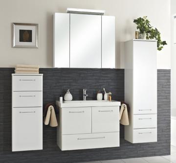 Pelipal Filo Weiß Set B 75 cm + Mineralmarmor Waschtisch