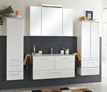 Pelipal Filo Weiß Set D 100 cm + Glaswaschtisch