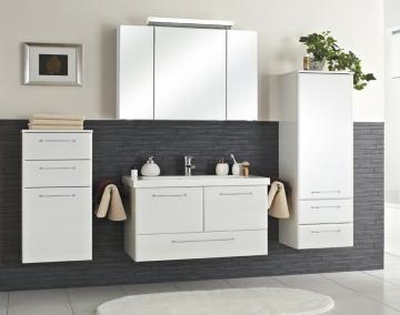 Pelipal Filo Weiß Set E 100 cm + Mineralmarmorwaschtisch