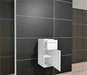 Pelipal PCON Highboard  | 1 Tür | 1 Auszug | Breite 30 cm | Höhe 96 cm