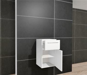 Pelipal PCON Highboard  | 1 Tür | 1 Auszug | Breite 45 cm | Höhe 96 cm