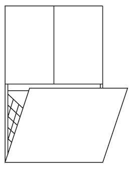Pelipal PCON Highboard  | 2 Türen | 1 Wäschekippe | Breite 60 cm | Höhe 96 cm