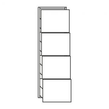 Pelipal PCON Highboard  | 4 Auszüge | Breite 30 cm | Höhe 96 cm