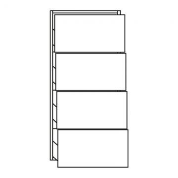 Pelipal PCON Highboard  | 4 Auszüge | Breite 45 cm | Höhe 96 cm