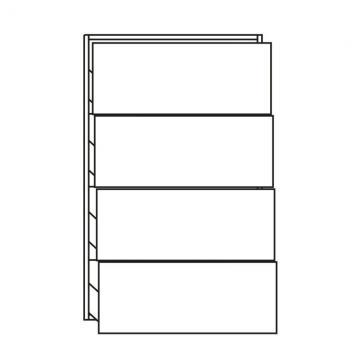 Pelipal PCON Highboard  | 4 Auszüge | Breite 60 cm | Höhe 96 cm