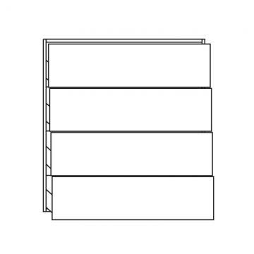 Pelipal PCON Highboard  | 4 Auszüge | Breite 90 cm | Höhe 96 cm