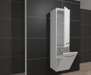 Pelipal PCON Hochschrank | 1 Tür + Wäschekippe | Breite 45 cm | Höhe 184 cm