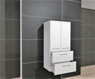 Pelipal PCON Midischrank | 2 Türen | 2 Auszüge | Breite 60 cm | Höhe 136 cm