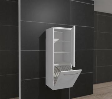 Pelipal PCON Midischrank | 1 Tür | Wäschekippe | Breite 45 cm | Höhe 136 cm