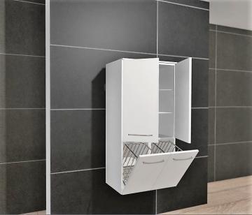 Pelipal PCON Midischrank | 2 Türen | Wäschekippe | Breite 60 cm | Höhe 136 cm