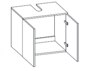 Pelipal Seo Grey Waschbeckenunterschrank Universal