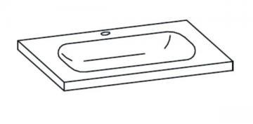 Pelipal Seo Grey Waschtisch 75 cm