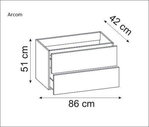 Pelipal Sera Badmöbel Set 90 cm