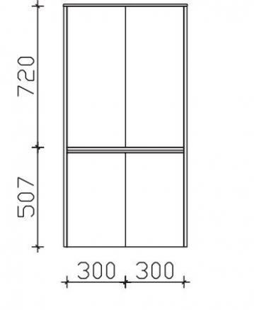 Pelipal Solitaire 6040 Midischrank 4 Türen