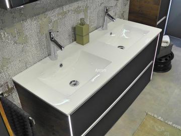 Pelipal Solitaire 6040 Waschtisch mit Unterschrank Doppelwaschtisch 121 cm