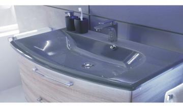 Pelipal Solitaire 7005 124 cm | Waschtisch Grau-Metallic