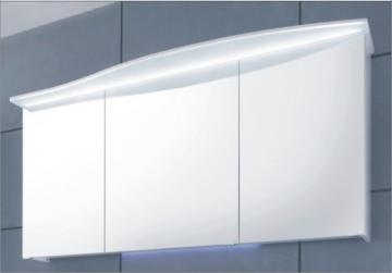 Pelipal Solitaire 7005 Spiegelschrank H 150 cm | LED Lichtkranz | Rundung rechts