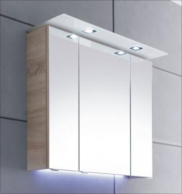Pelipal Solitaire 7005 Spiegelschrank A 80 cm | LED-Beleuchtung Glaskranz