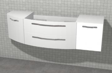 Pelipal Solitaire 7005 WT-Unterschrank A 150 cm | Rundung Links + Tür Rechts